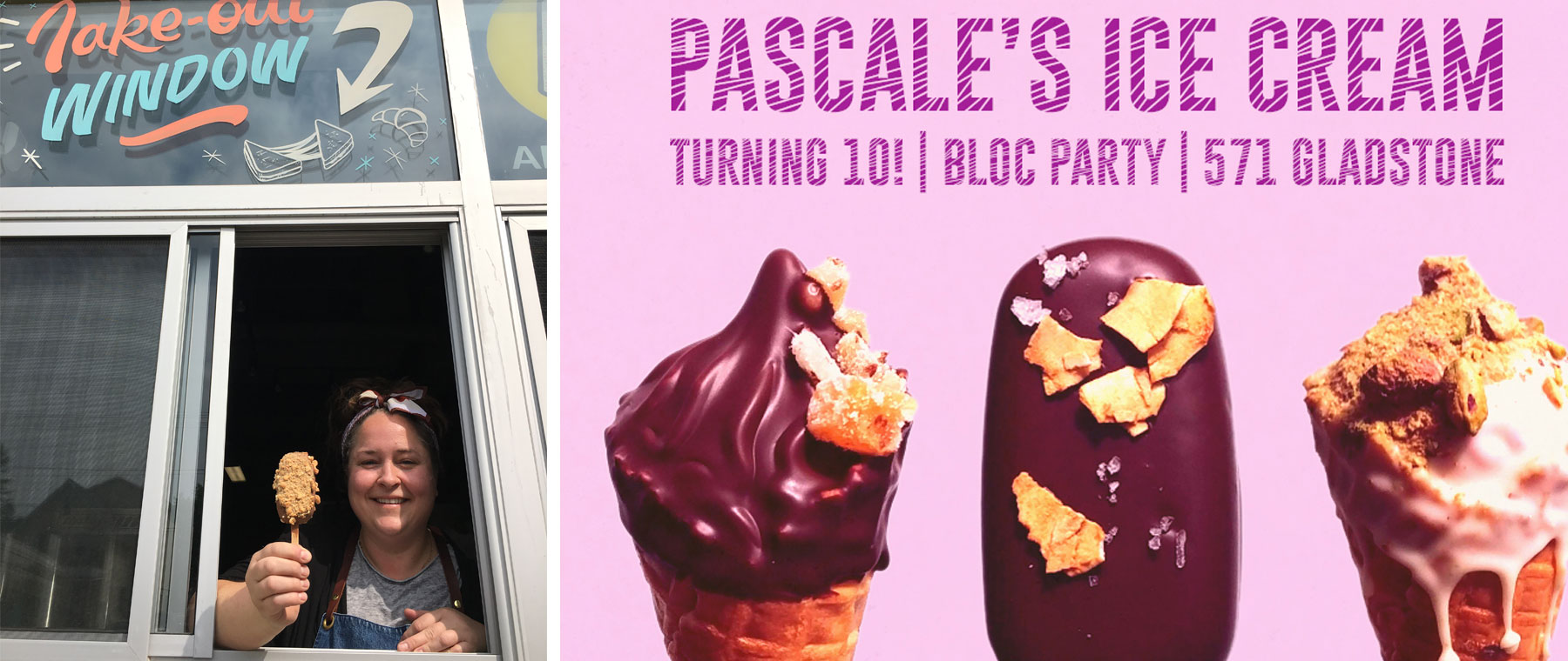Pascale's Ice Cream celebrates 10 years with a party — and a take-out window