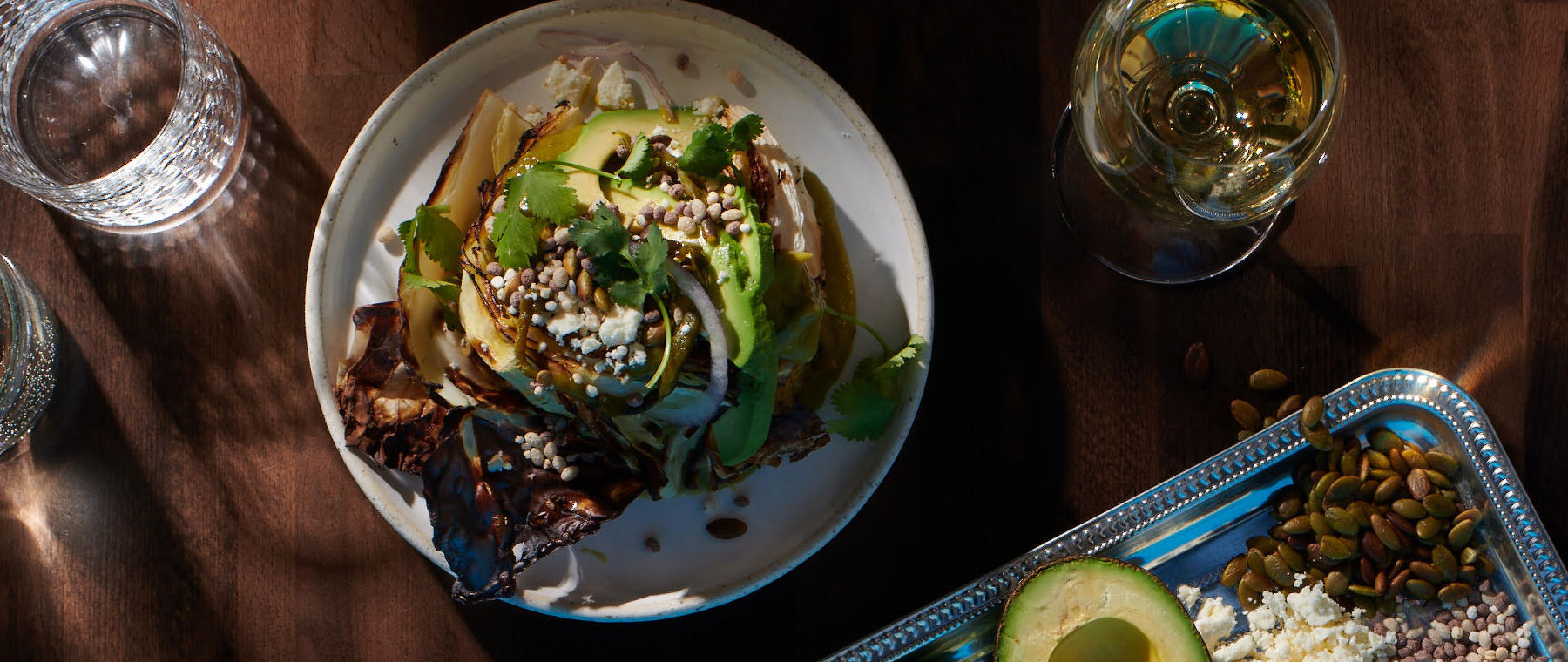 Chef Marc Doiron of Town shares a recipe for charred cabbage with avo-poblano dressing
