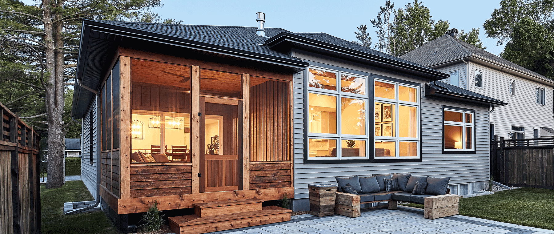 Screened-in-porch makes the most of backyard season