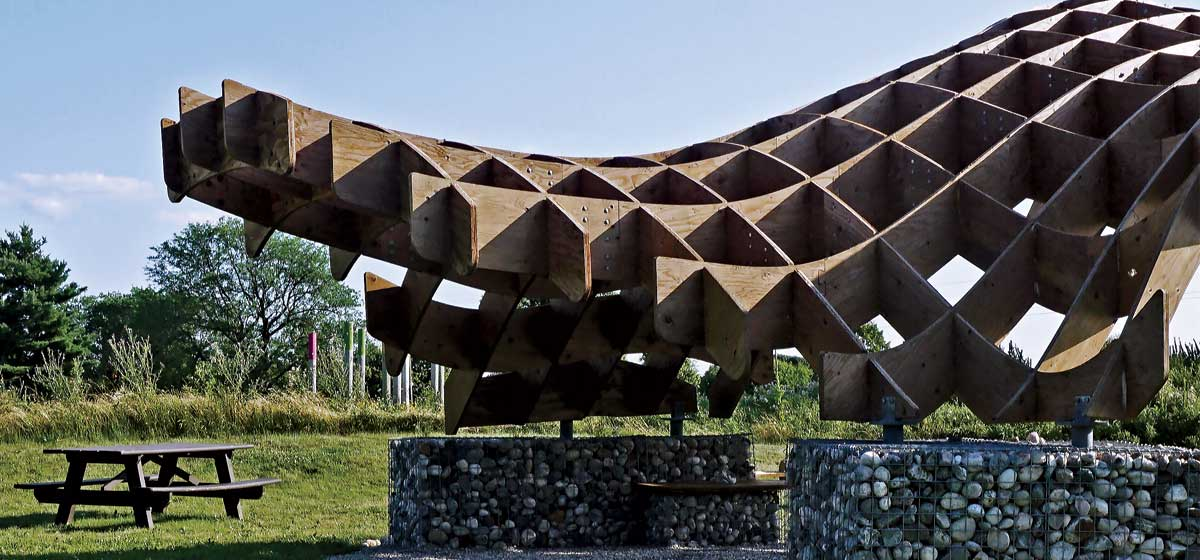 New sun shelter at Experimental Farm sets the stage for botanical garden