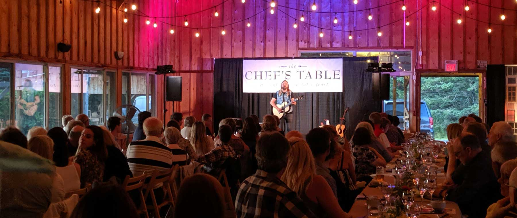 The Chef's Table pairs local chefs with intimate concerts