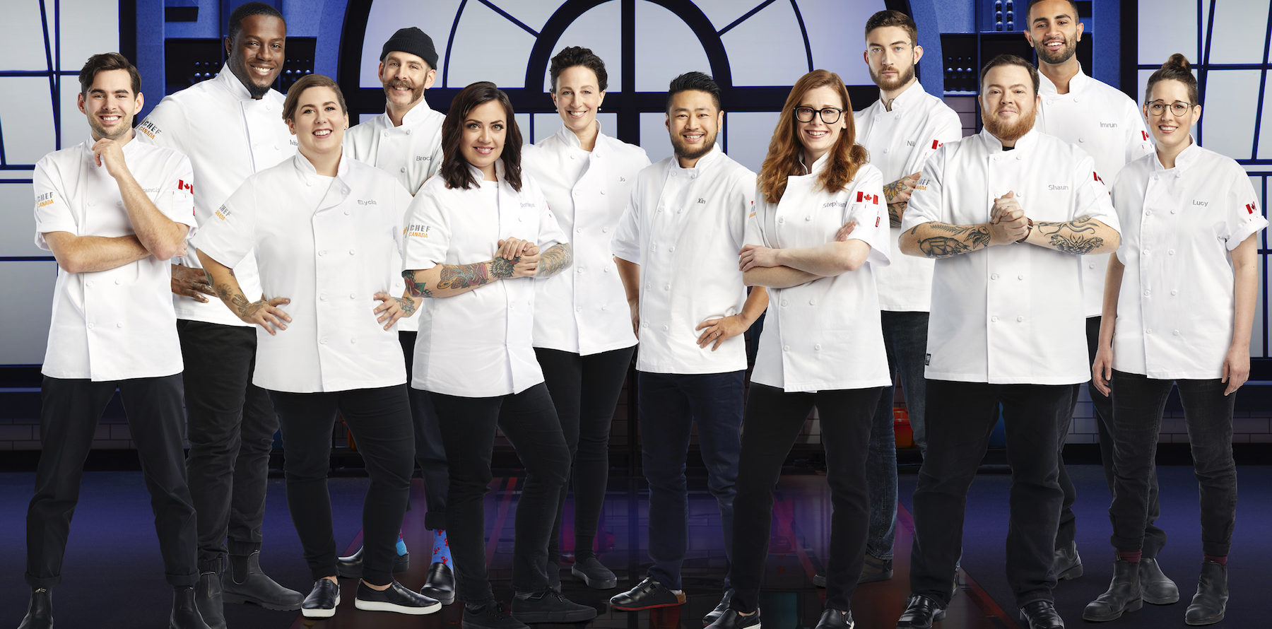 Stofa's Imrun Texeira and Dominique Dufour of Gray Jay cook on-screen in Top Chef Canada