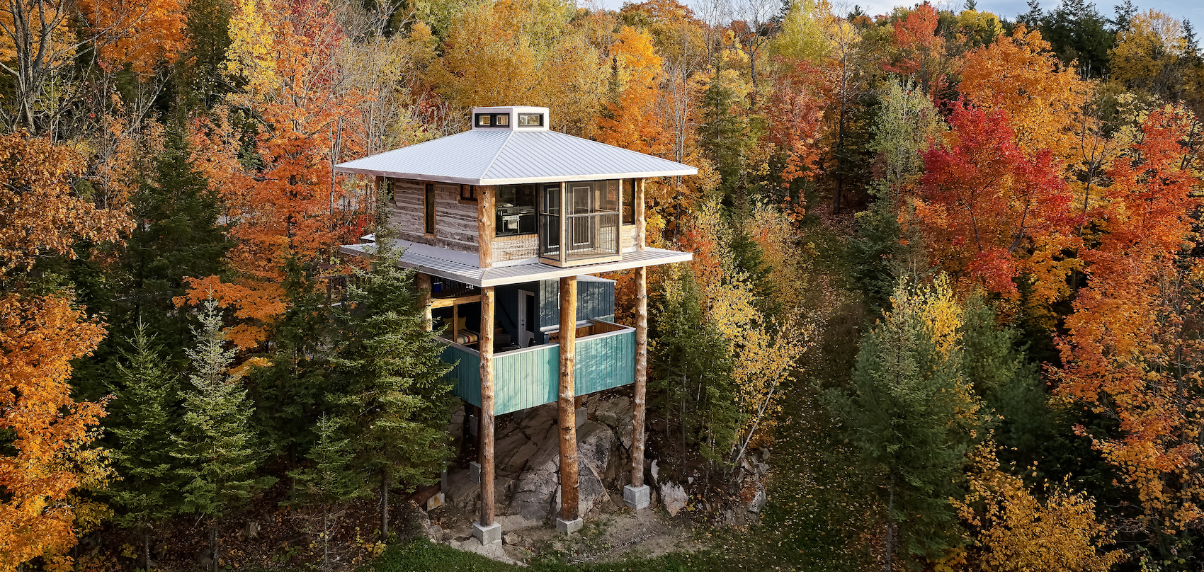 Wakefield treehouse takes tiny-house design to new heights