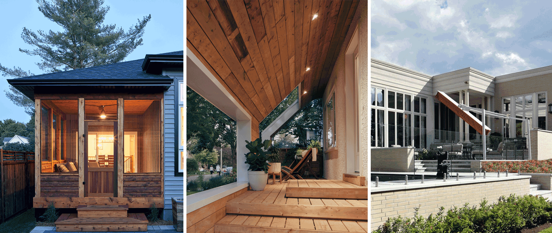 Porches We Love: A screened-in porch, a grand poolhouse, and more awesome exterior spaces