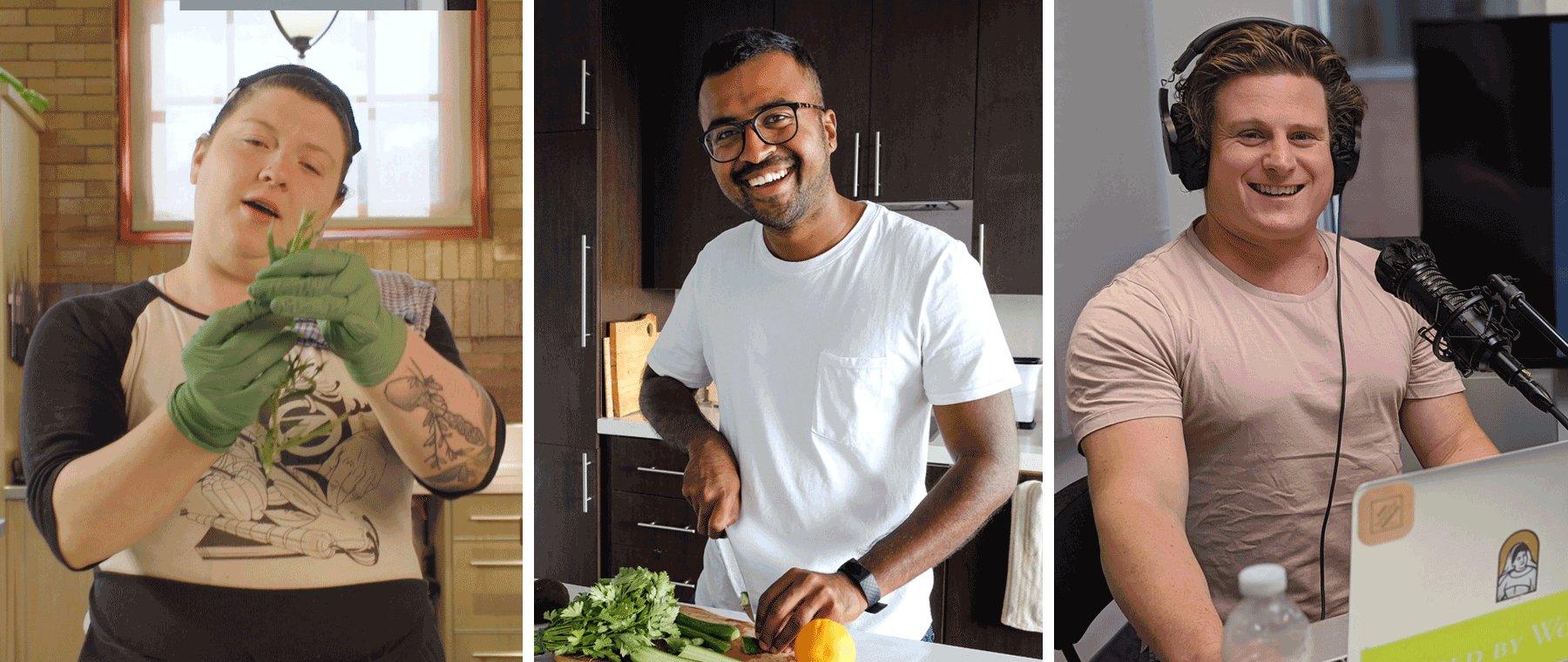 Chefs with Shows: Harriet Clunie, Jamil Bhuya, and Adam Vettorel