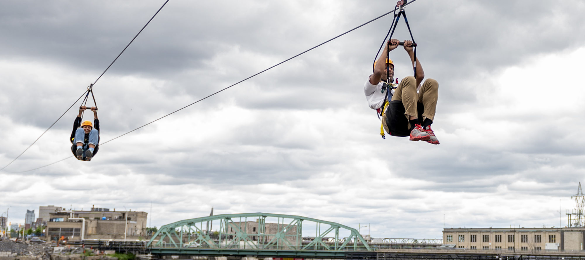 Zip line over Ottawa River a thrilling ride with a spectacular view